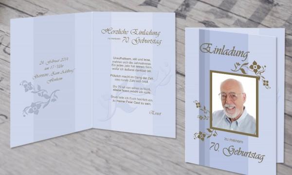 """Einladungskarte runder Geburtstag """"Auf dich"""""""