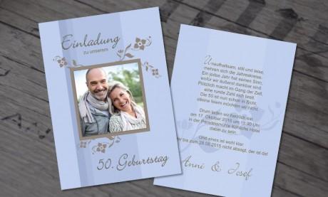 """Einladungskarten Geburtstag """"Jahrestag"""""""