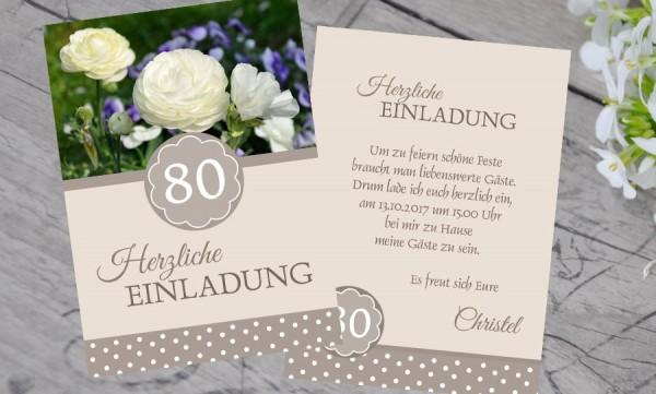 """Einladungskarten Geburtstag """"Gartenfest"""""""