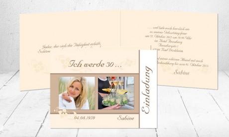 """Einladungskarte runder Geburtstag """"Prickelnd"""""""