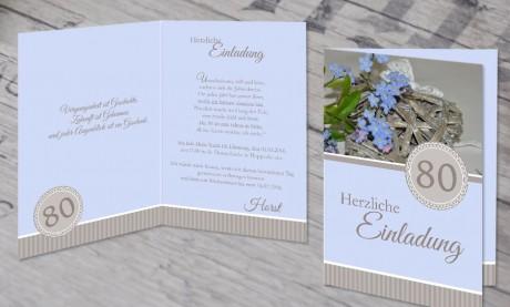 """Einladungskarte runder Geburtstag """"Ehrentag"""""""