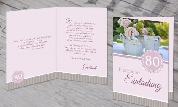 """Einladungskarte runder Geburtstag """"Mein Ehrentag"""""""