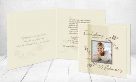 """Einladungskarte runder Geburtstag """"Runde 80"""""""