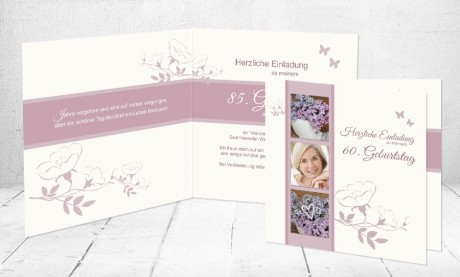 """Einladungskarte runder Geburtstag """"Süß wie das Leben"""""""
