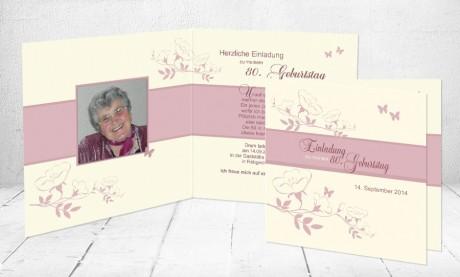 """Einladungskarte runder Geburtstag """"Kirschblüte"""""""