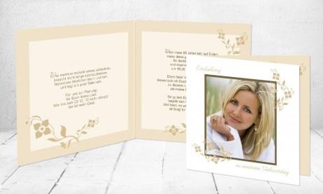 """Einladungskarte runder Geburtstag """"Goldene Zeiten"""""""
