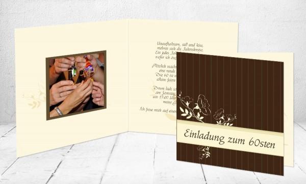 """Einladungskarte runder Geburtstag """"Golden Oldies"""""""