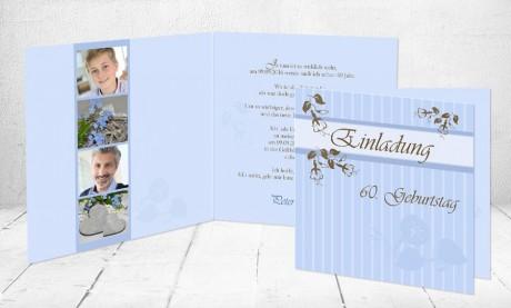 """Einladungskarte runder Geburtstag """"Lebensglück"""""""