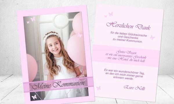 """Dankkarte Kommunion """"Mädchentraum"""""""