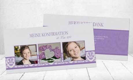 "Dankeskarten Konfirmation ""Herzlich Danke"""