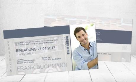"""Einladungskarten Geburtstag """"Partyticket"""""""
