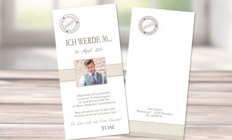 """Einladungskarten Geburtstag """"Smile"""""""
