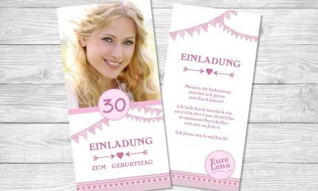 """Einladungskarten Geburtstag """"Rhododendron"""""""