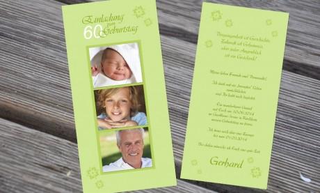 """Einladungskarten Geburtstag """"Zeitraffer"""""""