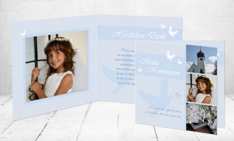 """Danksagungskarte Konfirmation """"Friedenstaube"""""""