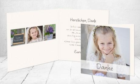 """Dankeskarten Kommunion """"Sternchen"""""""