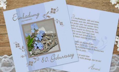"""Einladungskarten Geburtstag """"Lebensglück"""""""