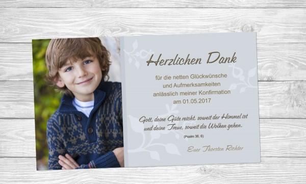 """Danksagungskarten zur Kommunion """"Güte"""""""