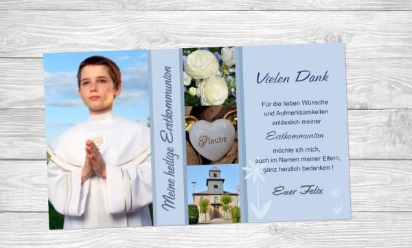 """Danksagungskarten zur Kommunion """"Entzückend"""""""