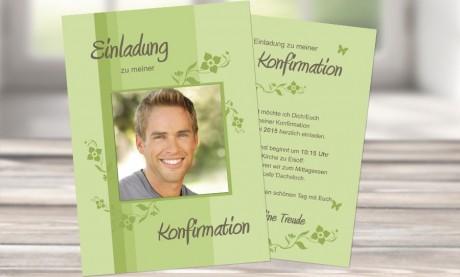 """Einladungskarte Konfirmation """"Liebe"""""""