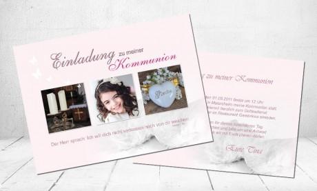 """Einladungskarte Kommunion """"Glaube"""""""