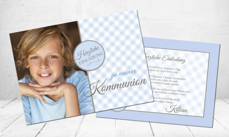 """Einladungskarte Kommunion """"für coole Jungs"""""""