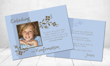 """Einladungskarte Kommunion """"Gottes Segen"""""""