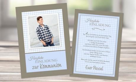 """Einladungskarte Kommunion """"little star"""""""