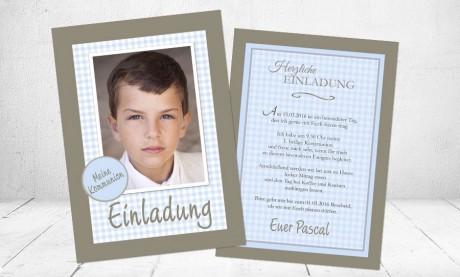 """Einladungskarte Kommunion """"Mein Tag"""""""