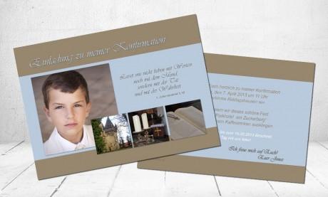 """Einladungskarte Konfirmation """"Tat & Wahrheit"""""""