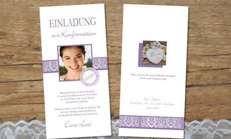 """Einladungskarte Konfirmation """"Bezaubernd"""""""
