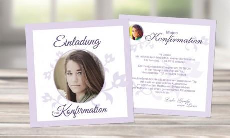 """Einladungskarte Konfirmation """"Wunderschön"""""""
