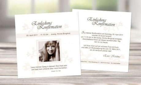 "Einladungskarte Konfirmation ""Freude"""