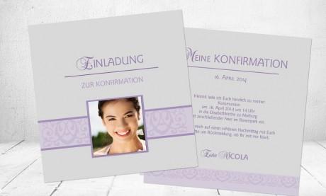 "Einladungskarte Konfirmation ""Lebensfreude"""