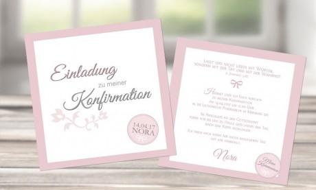 """Einladungskarte Konfirmation """"Liebevoll"""""""