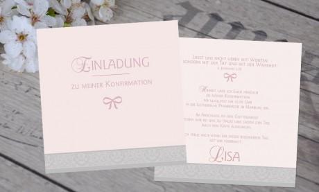 """Einladungskarte Konfirmation """"Klassisch schick"""""""