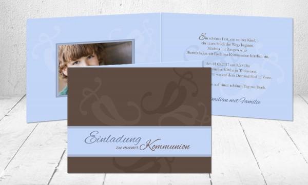 """einladungskarten erstkommunion """"dein weg"""" kartenveredelung"""