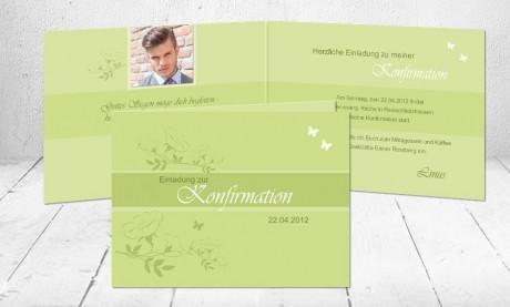 """Einladungskarte Konfirmation """"Glaube"""""""