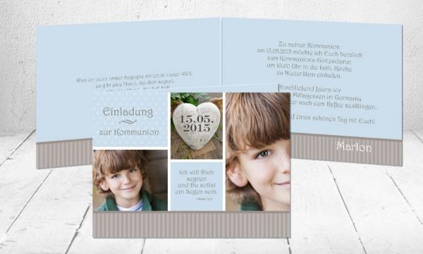 """Einladungskarten Erstkommunion """"Segen"""""""