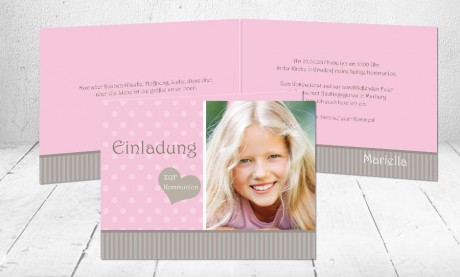 """Einladungskarten Erstkommunion """"Glaube Hoffnung Liebe"""""""
