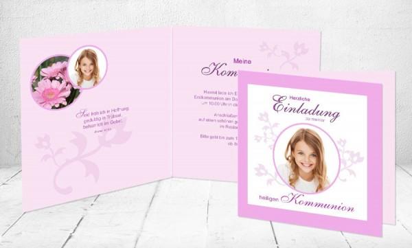 """Kommunionkarten Einladung """"Strahle Mädchen"""""""