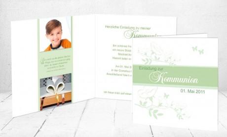"""Einladungskarte Konfirmation """"Kirschblüte"""""""