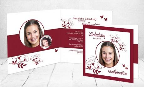 """Einladungskarte Konfirmation """"Junge Dame"""""""