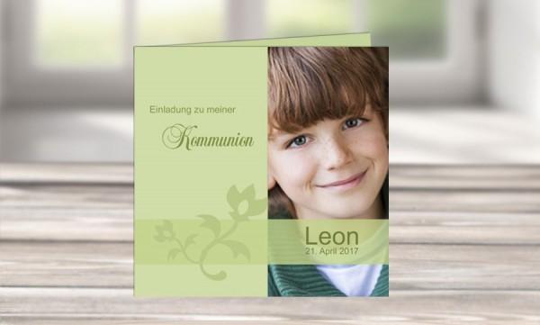 """Kommunionkarten Einladung """"Einzigartig"""""""