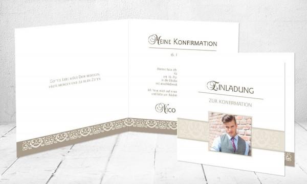 """Einladungskarte Konfirmation """"Gottes Liebe"""""""