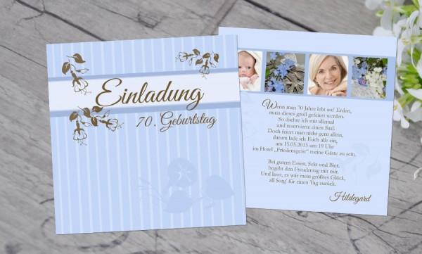 """Einladungskarten Geburtstag """"Lebenszeit"""""""