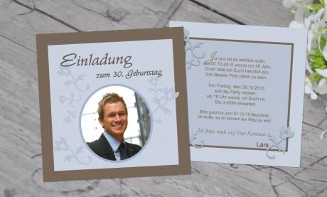 """Einladungskarten Geburtstag """"Partytime"""""""