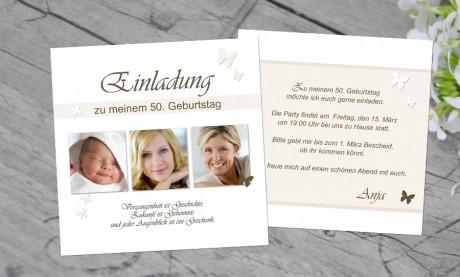 """Einladungskarten Geburtstag """"Mein Augenblick"""""""
