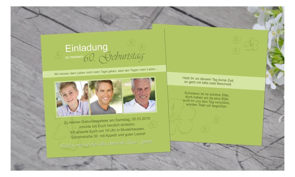 """Einladungskarten Geburtstag """"Leben"""""""