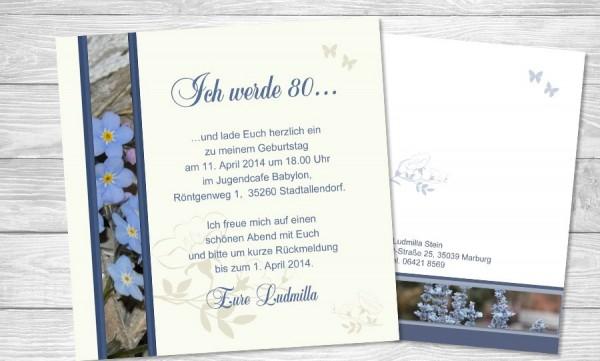 Einladungskarten Einladungen zum Geburtstag Jubiläum mit Foto 10 St
